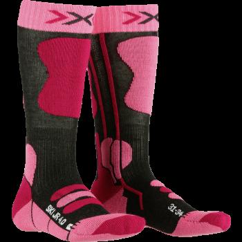 X-socks SKI JR, otroške smučarske nogavice, roza