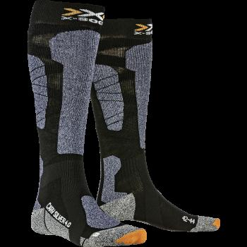 X-socks CARVE SILVER, moške smučarske nogavice, črna