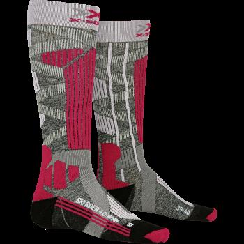 X-socks SKI RIDER, nogavice ž.smu, rdeča