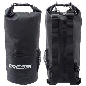 Cressi Sub DRY BAG WITH ZIP 10L, torba športna, črna