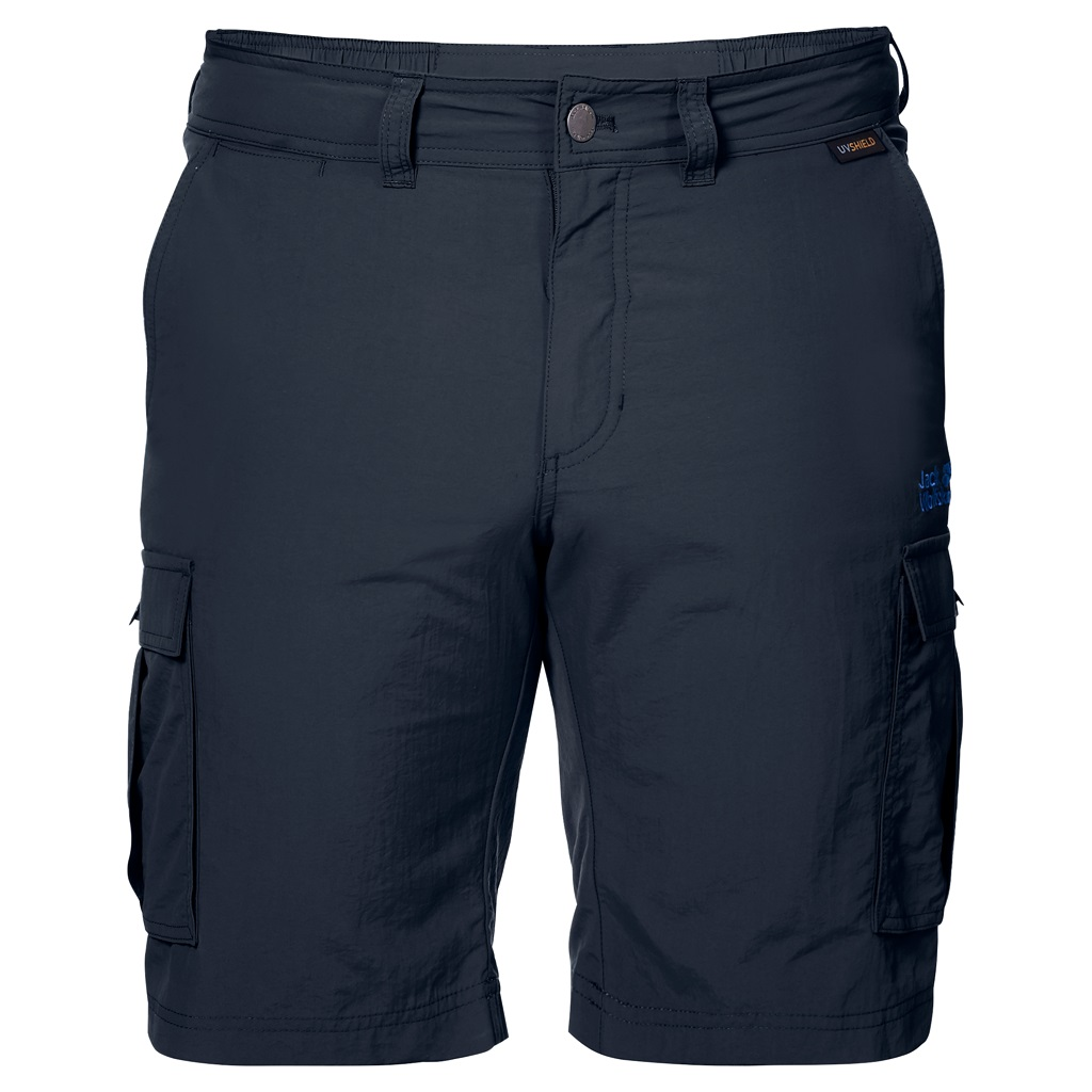 Jack Wolfskin CANYON CARGO SHORTS, hlače, modra