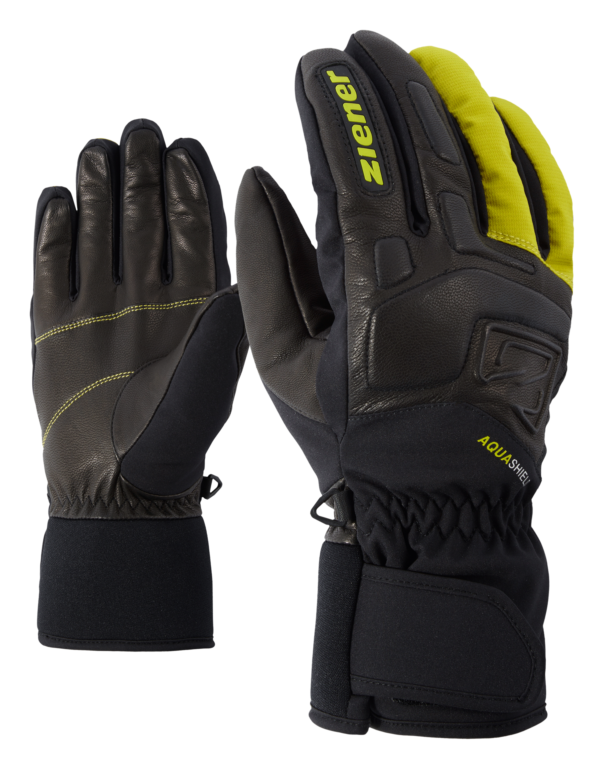 Ziener GLYXUS AS®, moške smučarske rokavice, rumena