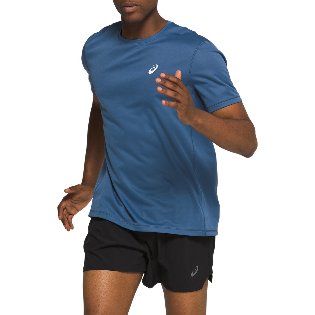 Asics KATAKANA SS TOP, moška tekaška majica, modra