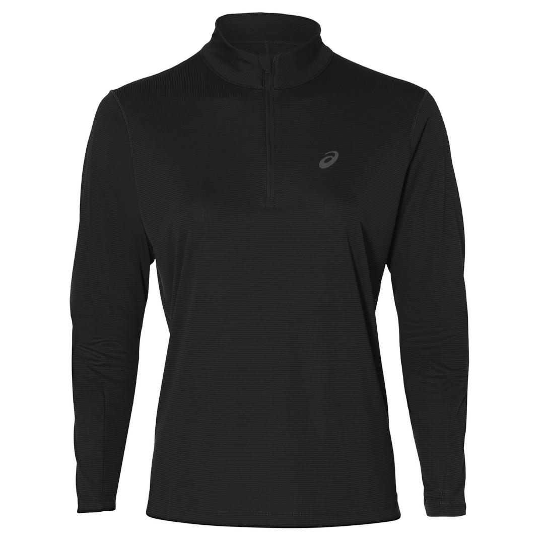 Asics ICON LS TOP, ženska tekaška majica, črna