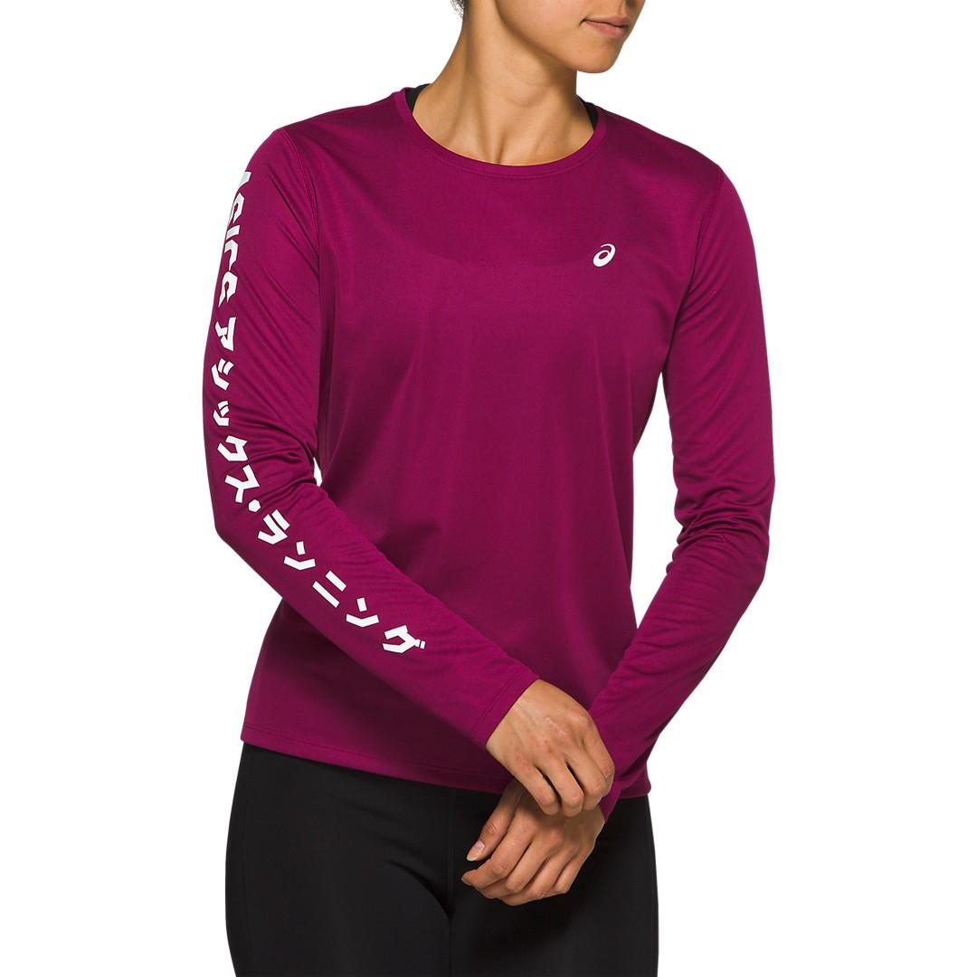 Asics KATAKANA LS TOP, ženska tekaška majica, vijolična