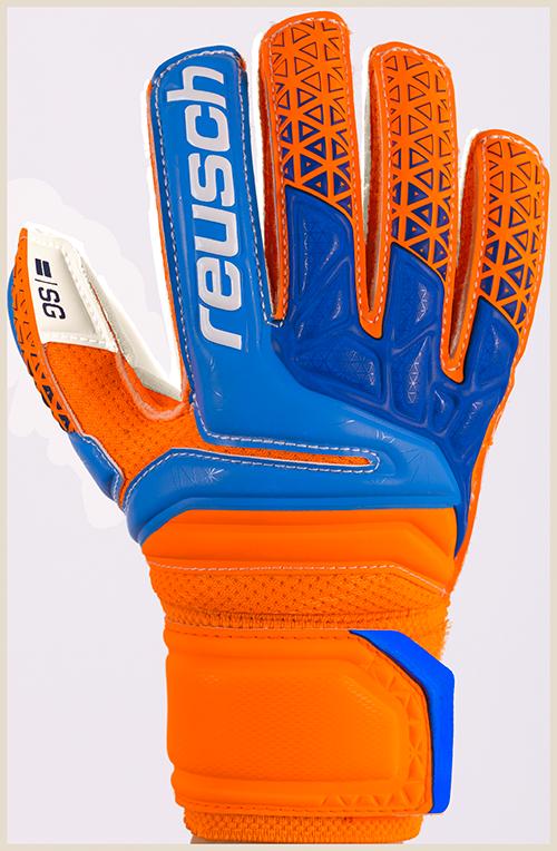 Reusch PRISMA SG FINGER, otroške nogometne rokavice, oranžna