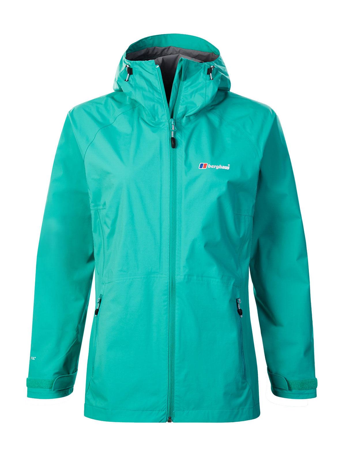 Berghaus Stormcloud Shell Jkt Af Grn/gry, ženska pohodna jakna, zelena