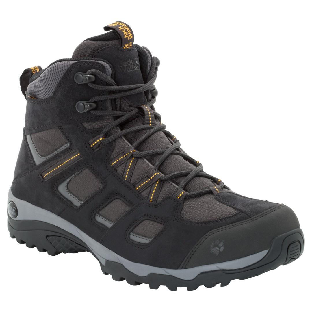 Jack Wolfskin VOJO HIKE 2 TEXAPORE MID M, moški pohodni čevlji, črna