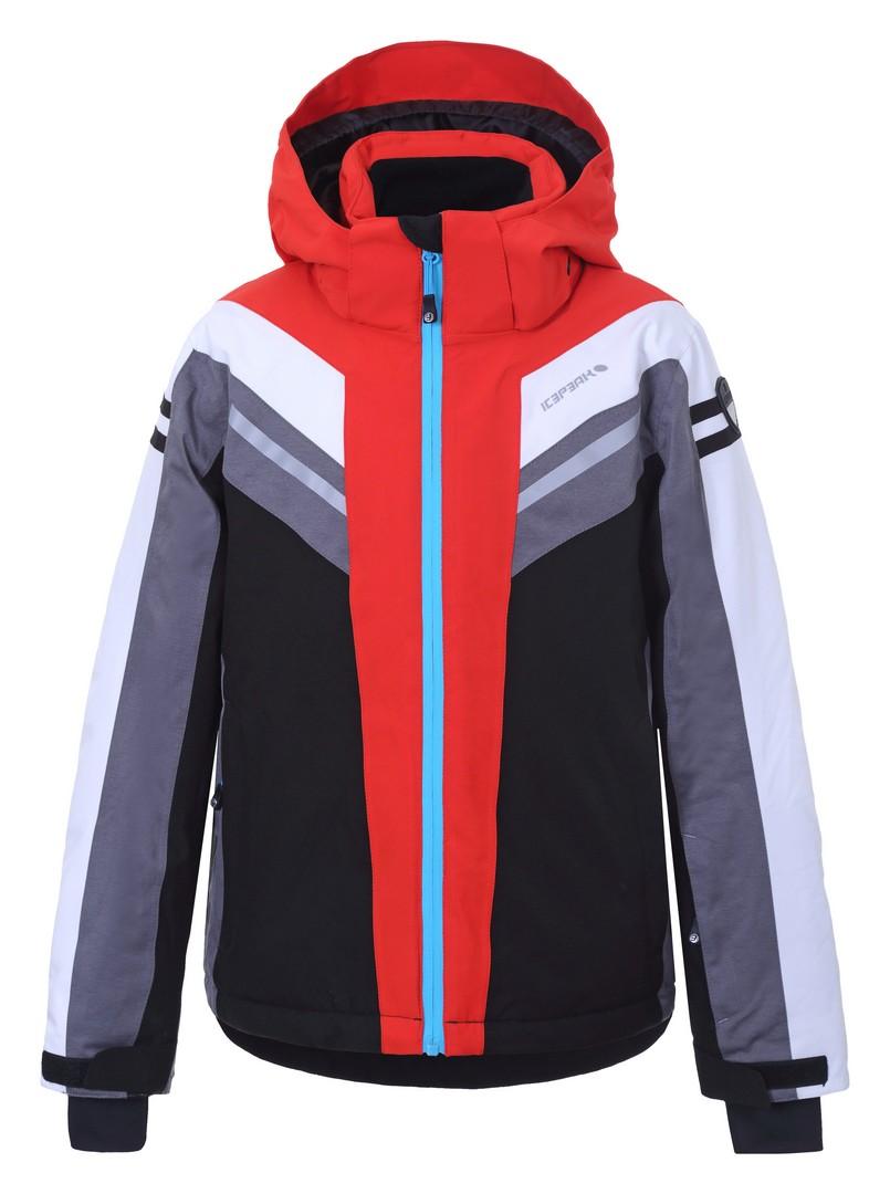 Icepeak LAMAR JR, otroška smučarska jakna, rdeča