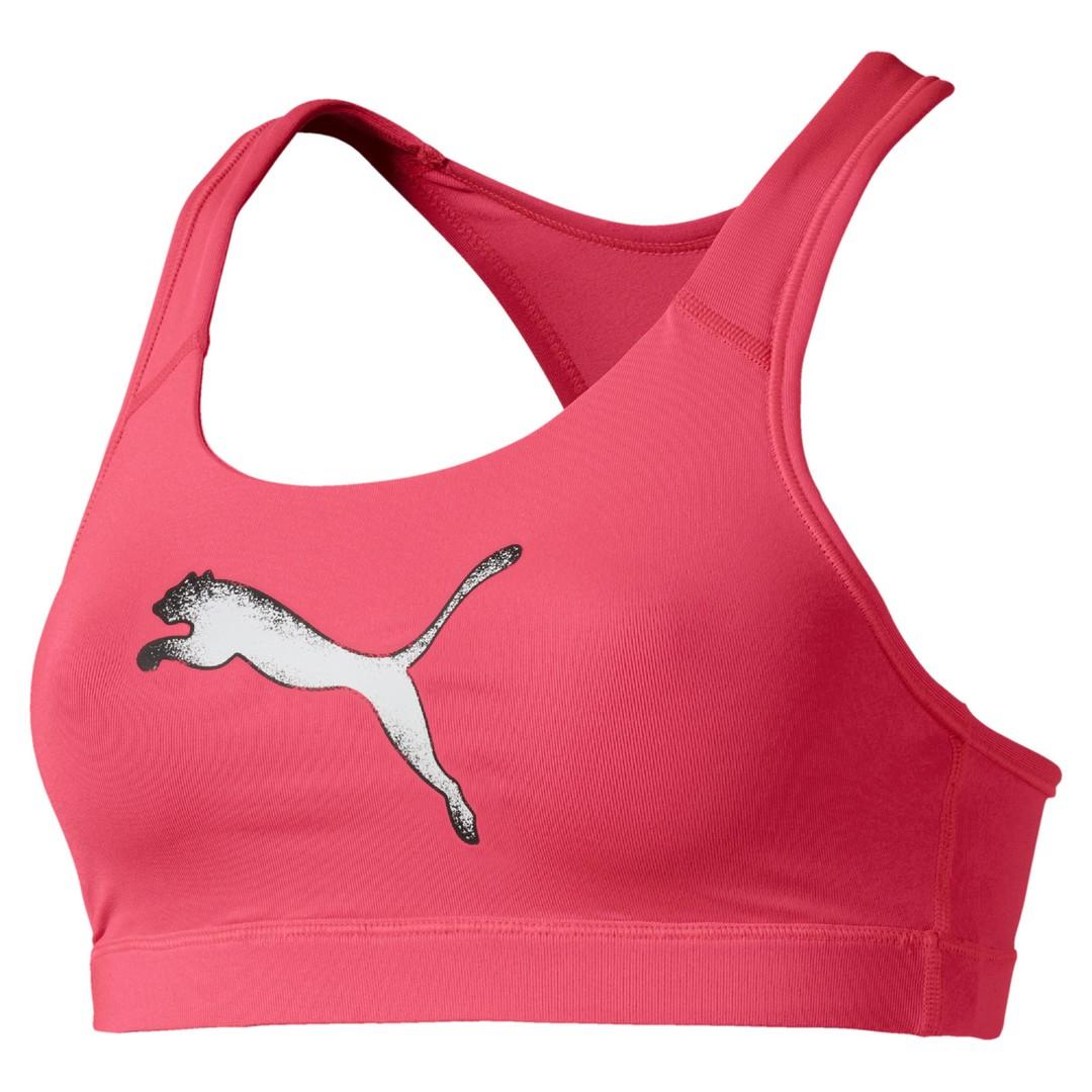 Puma 4KEEPS BRA M, ženski športni nedrček, roza