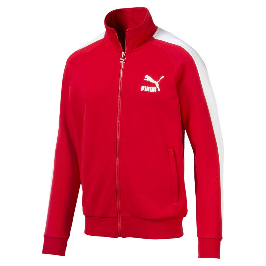 Puma ICONIC T7 TRACK JACKET TR, moška jakna, rdeča