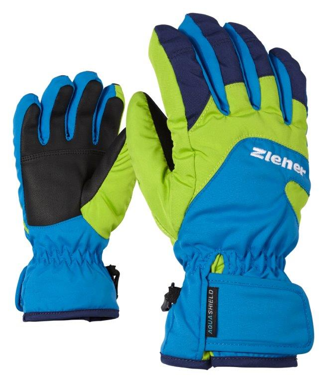 Ziener LIZZARD AS® JUNIOR, otroške smučarske rokavice, modra