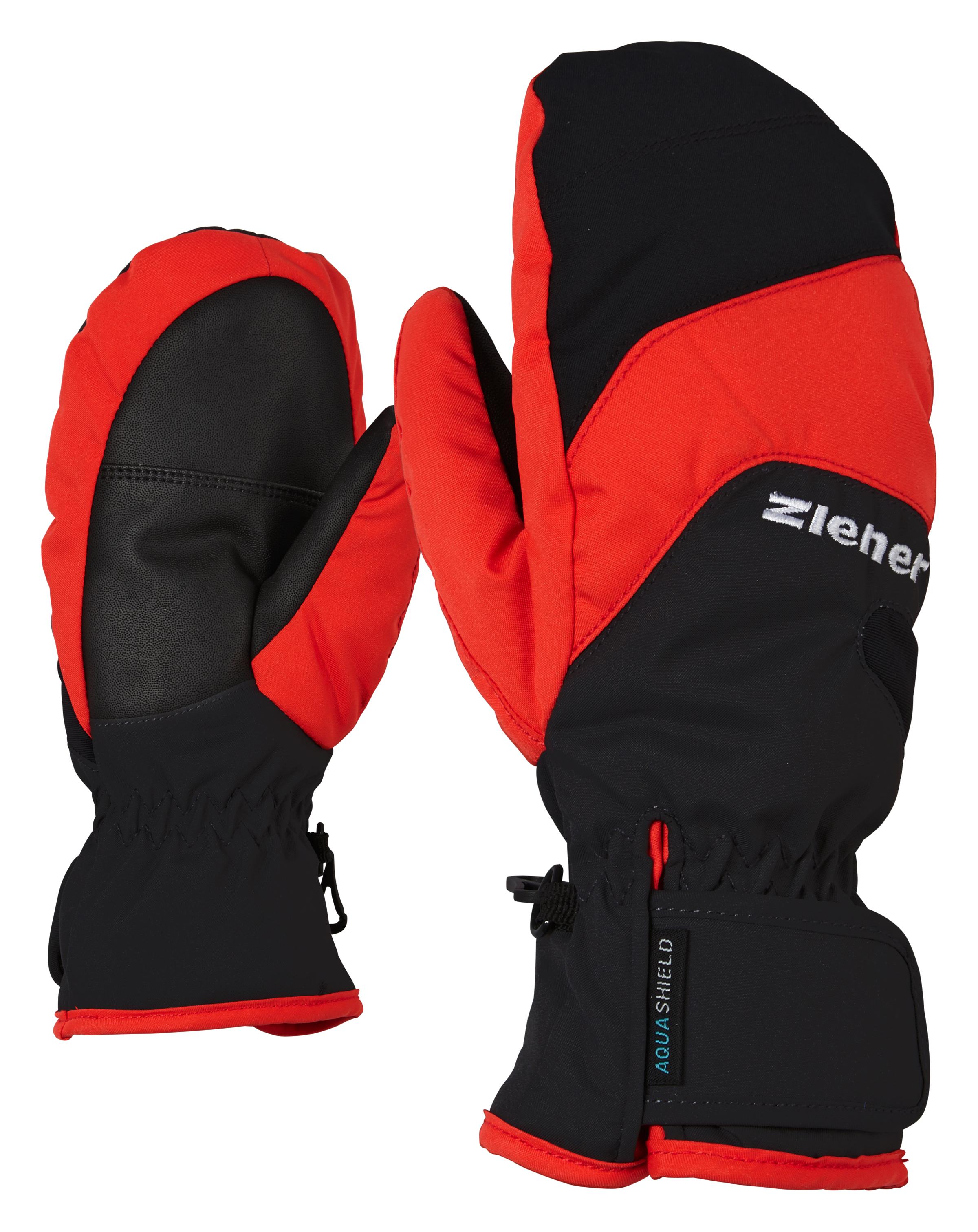 Ziener LIZZARDOLO AS® MITTEN JUNIOR, otroške smučarske rokavice, črna