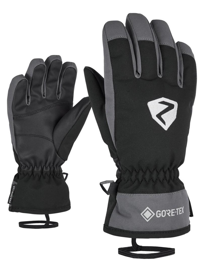Ziener LARINO GTX JUNIOR, otroške smučarske rokavice, črna
