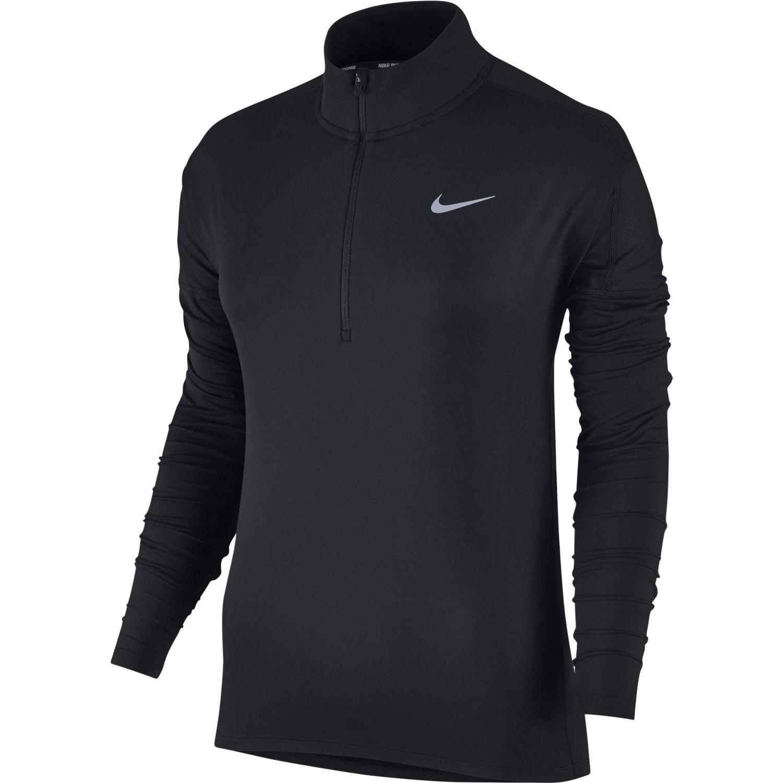 Nike W NK DRY ELMNT TOP HZ, ženska tekaška bluza, črna