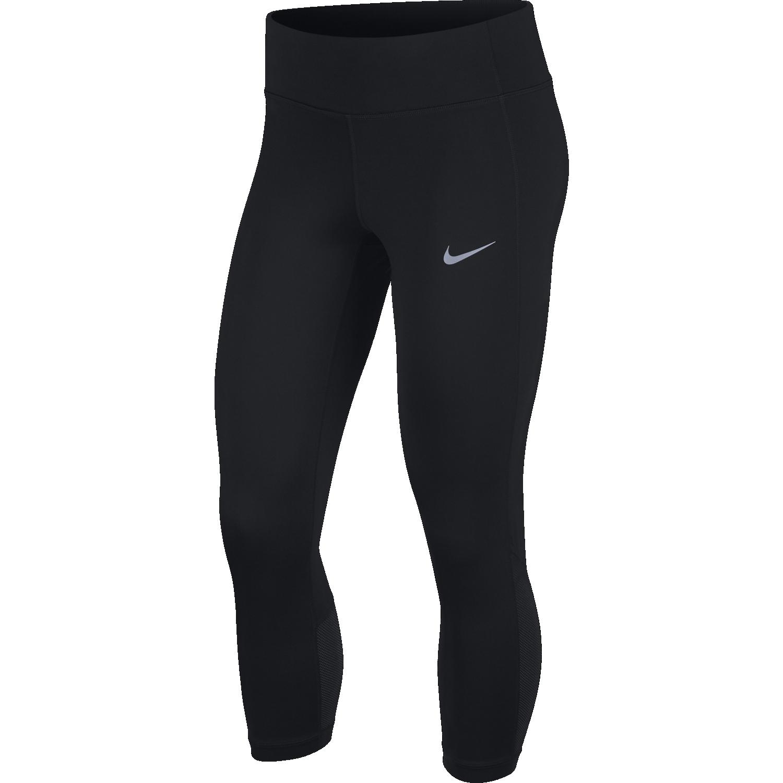 Nike W NK RACER CROP, ženske tekaške pajke, črna