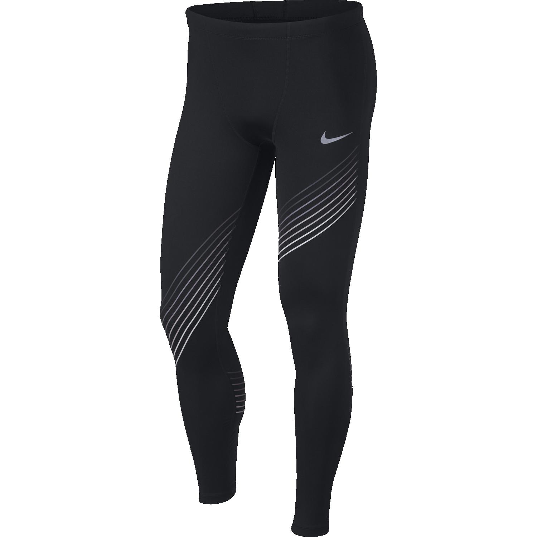 Nike M NK RUN TIGHT GX, moške tekaške pajke, črna
