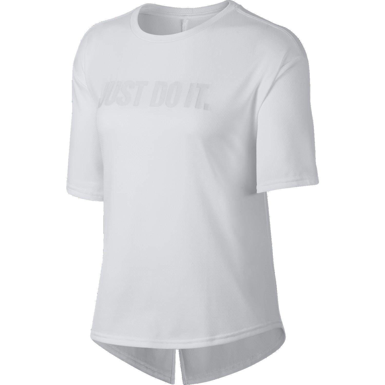 Nike W NK DRY TOP SS FA18, maja, bela