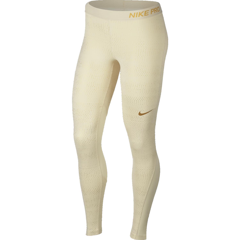 Nike W NP TGHT MTLC DOTS PRT, pajke ž.fit, bež