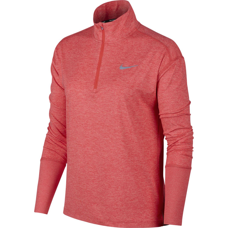 Nike W NK TOP HZ, puli ž.tek zip, rdeča