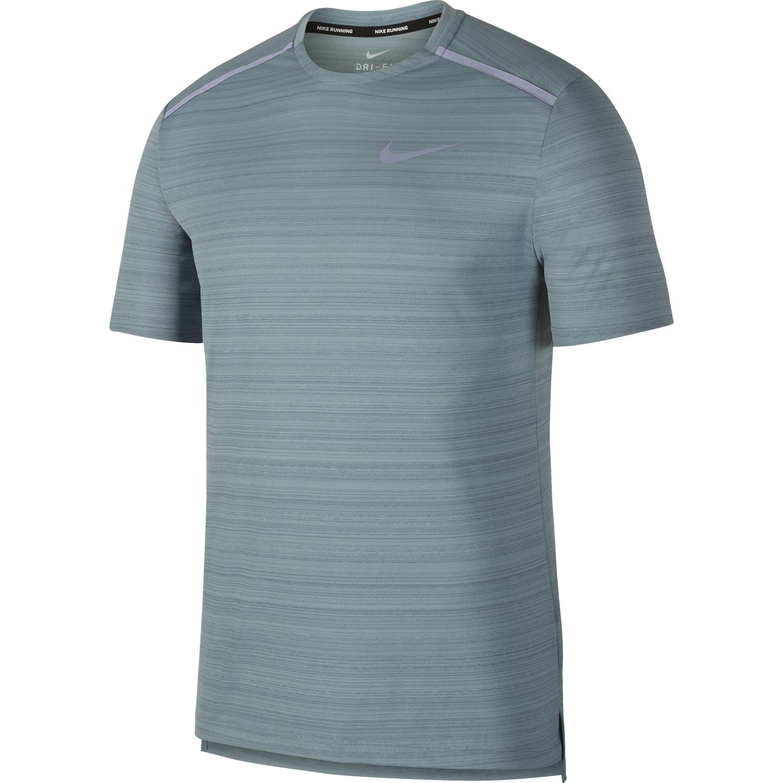 Nike M NK DRY MILER TOP SS, moška tekaška majica, siva