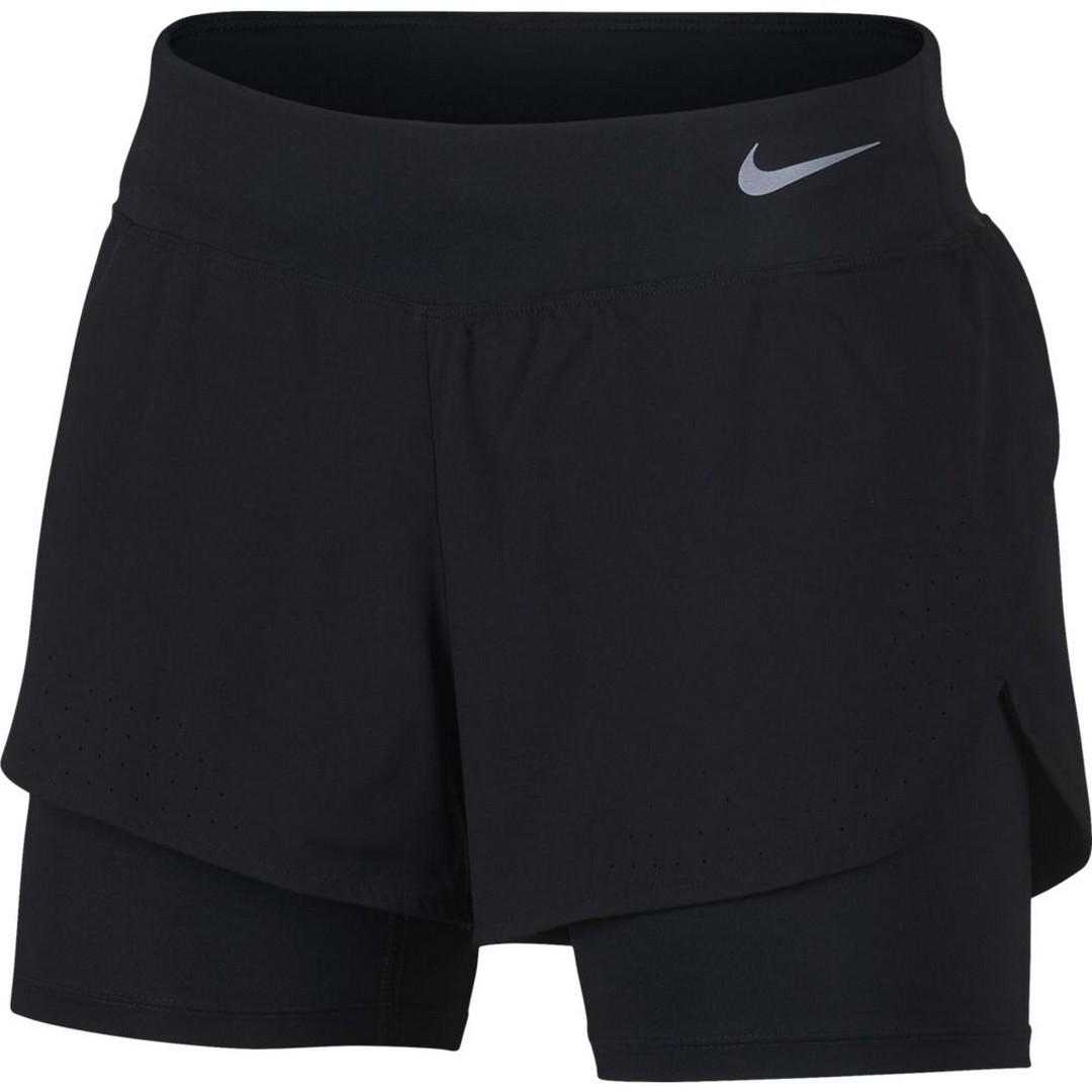 Nike W NK ECLIPSE 2IN1 SHORT, ženske tekaške hlače, črna