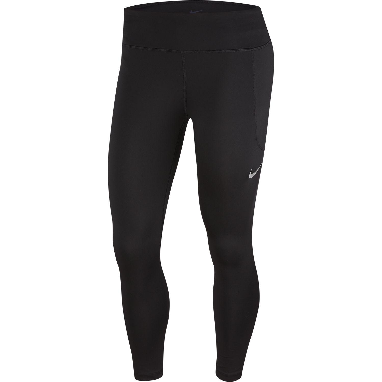 Nike W NK FAST CROP, ženske tekaške pajke, črna