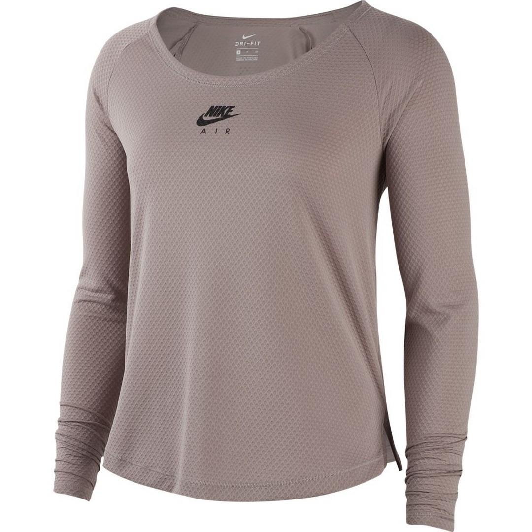 Nike W NK TOP LS AIR, ženska tekaška majica, siva