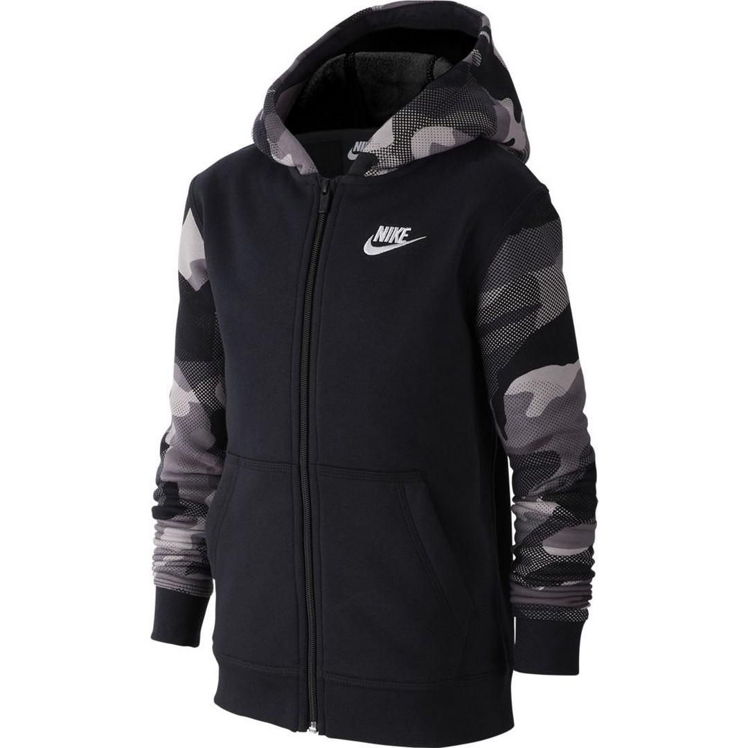 Nike B NSW FZ CLUB AOP2, jopa o.fit, črna