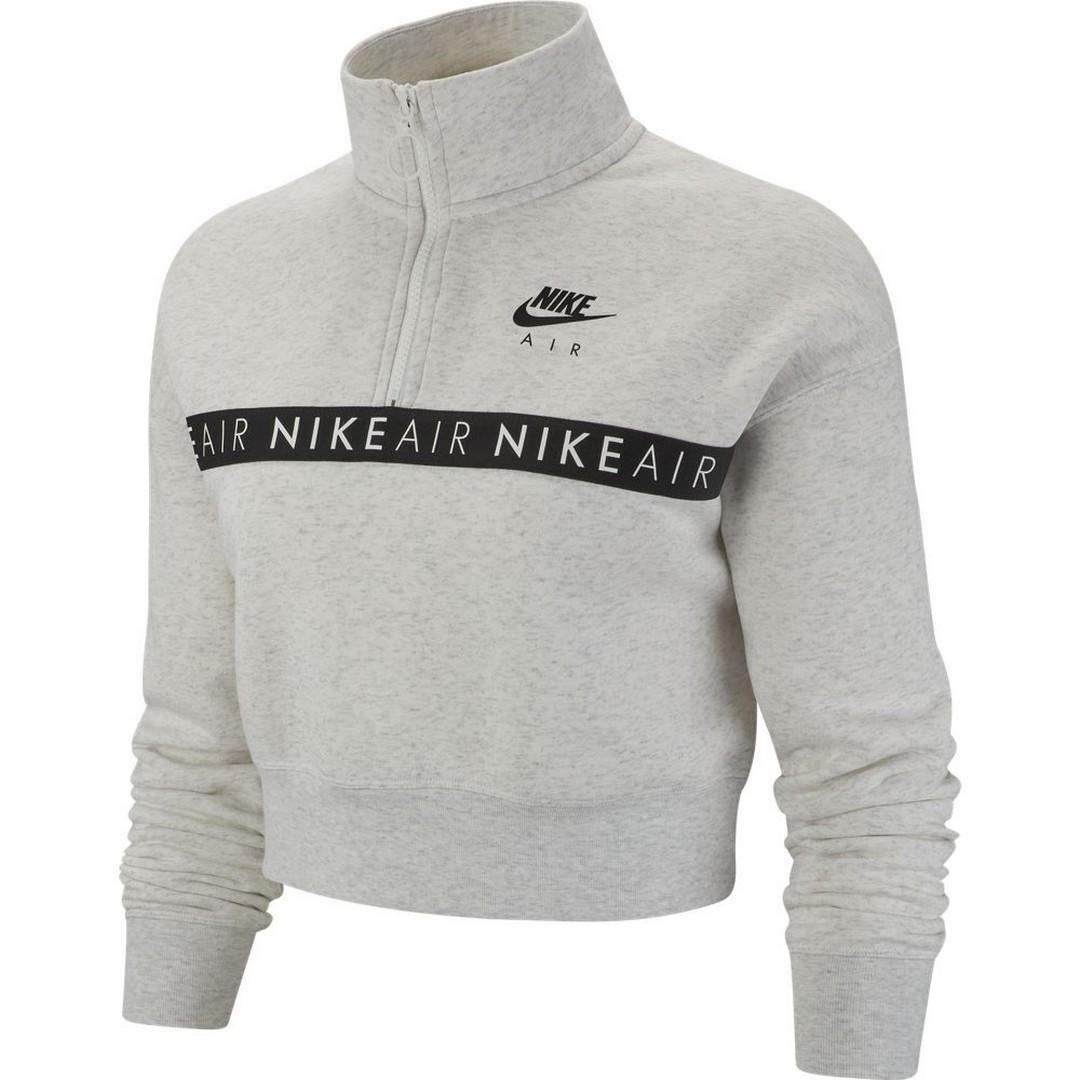 Nike W NSW AIR TOP HZ BB, ženski pulover, siva