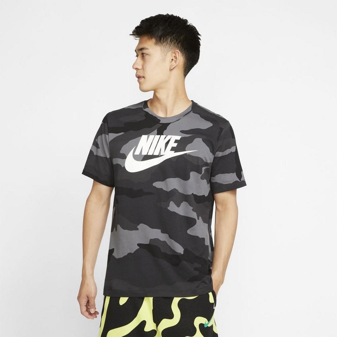 Nike M NSW SS TEE CAMO 1, maja m.kr, siva
