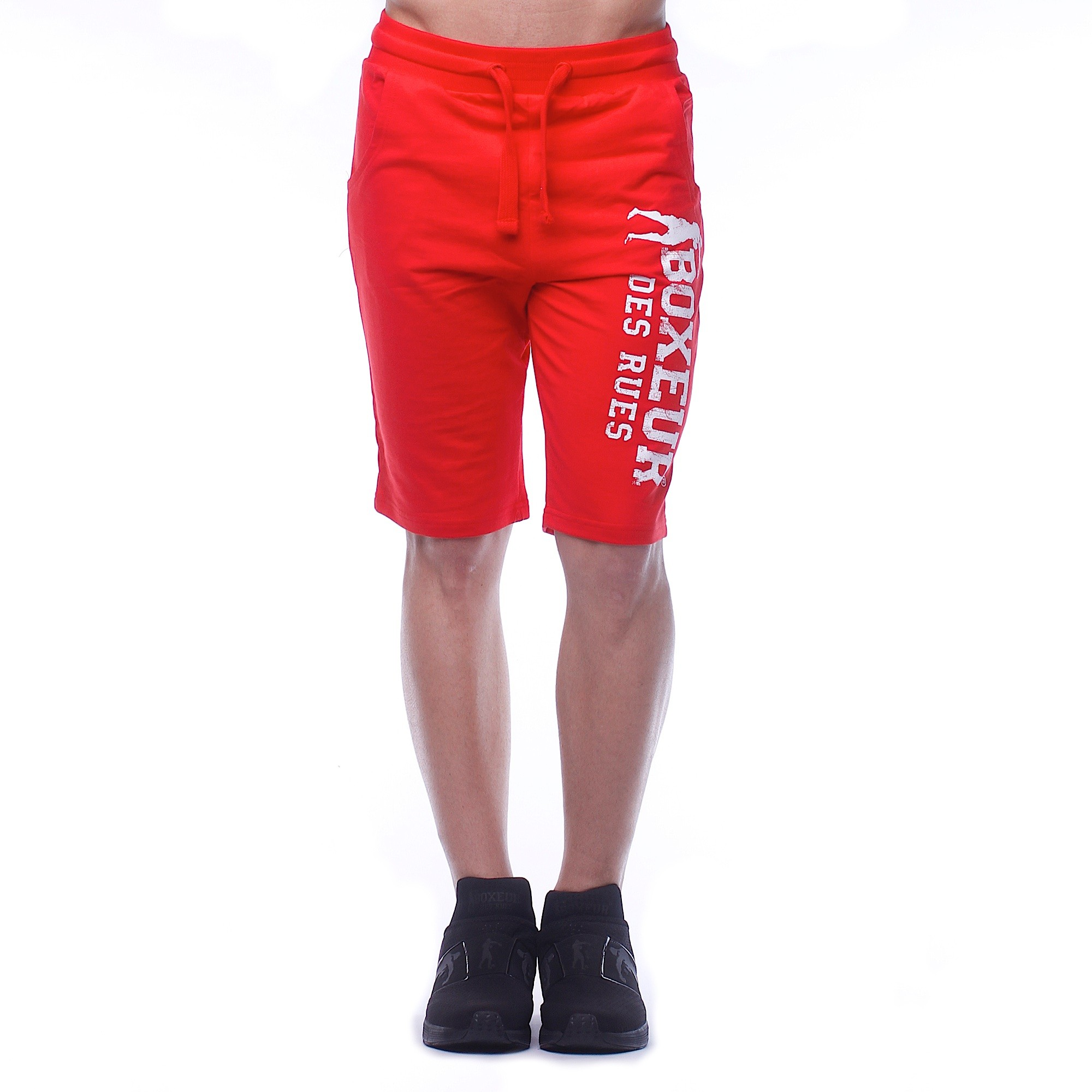 Boxeur SHORT SWEATPANTS, moške fitnes hlače, rdeča