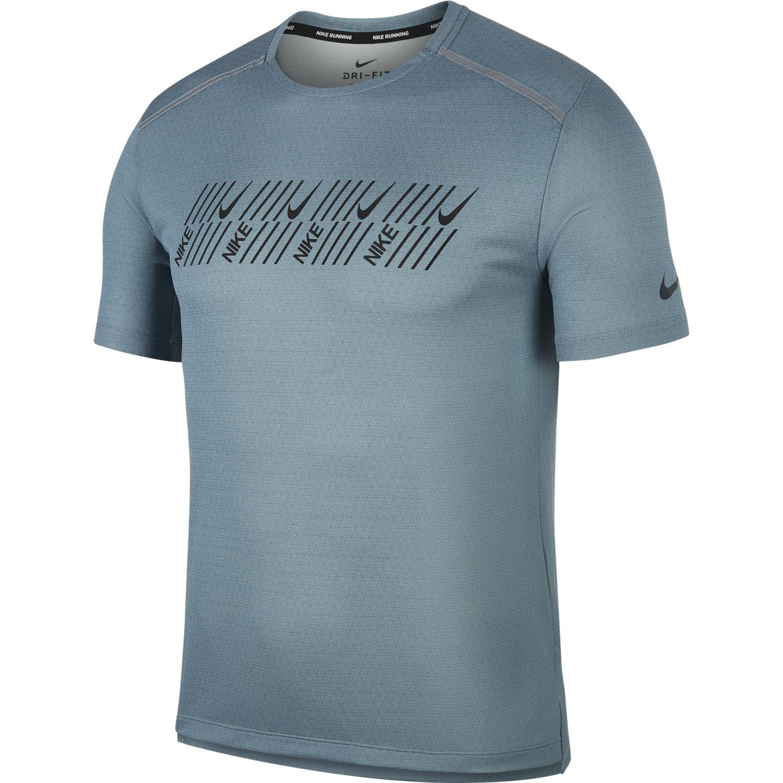 Nike M NK DF MILER TECH SS CAPSULE, moška tekaška majica, siva
