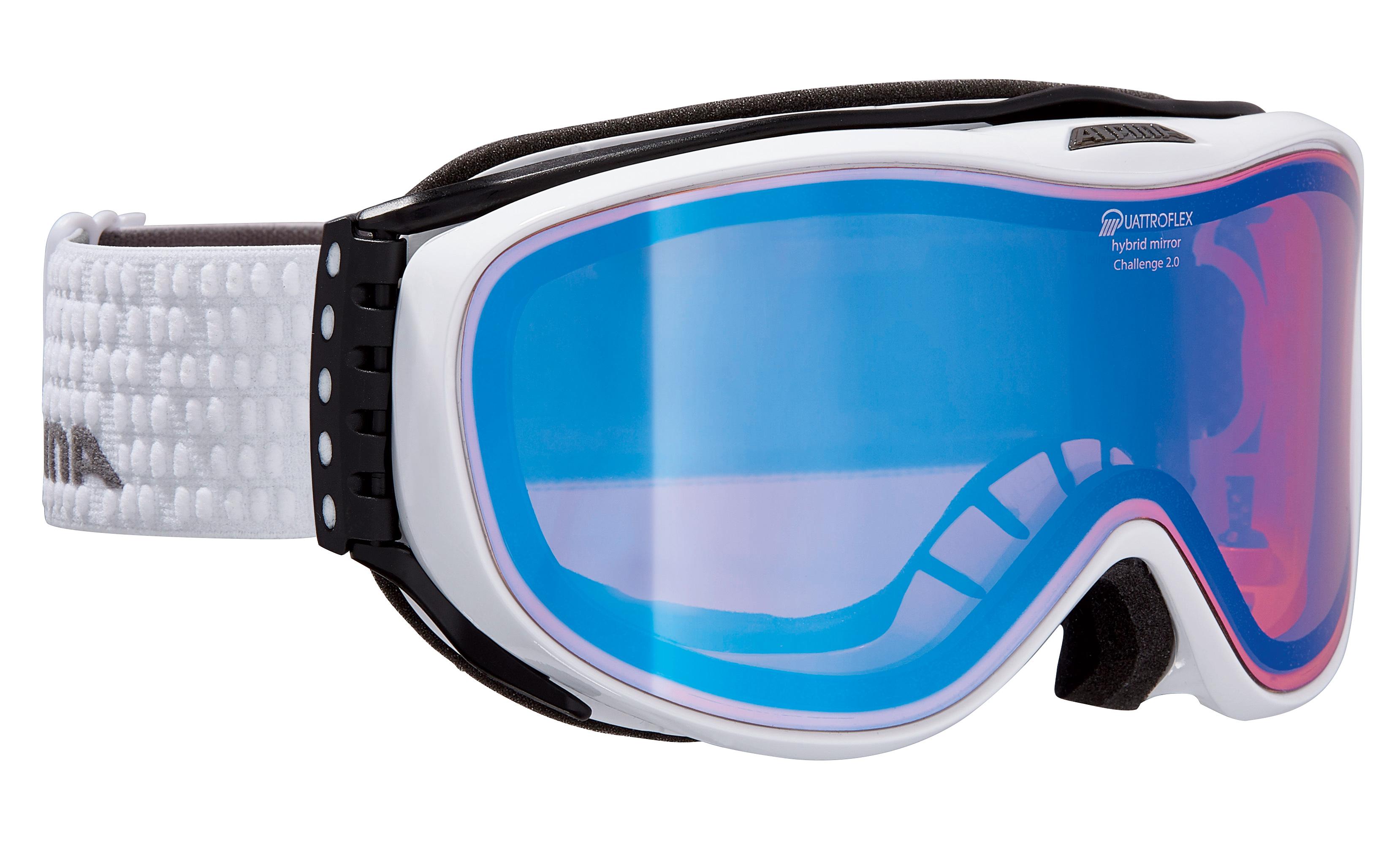 Alpina CHALLENGE 2.0 QM, smučarska očala, bela