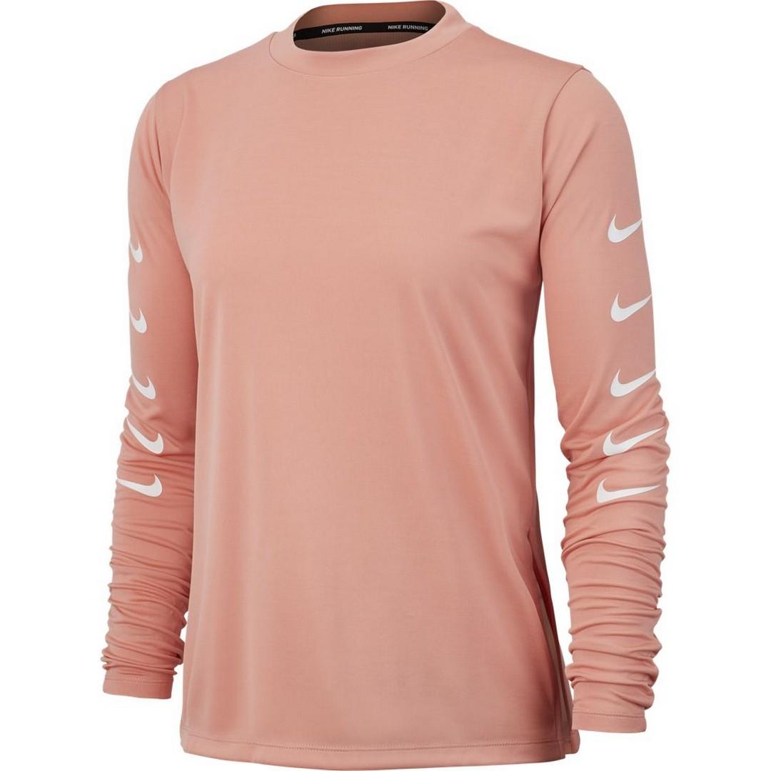 Nike W NK SWOOSH RUN TOP HZ, ženska tekaška majica, roza