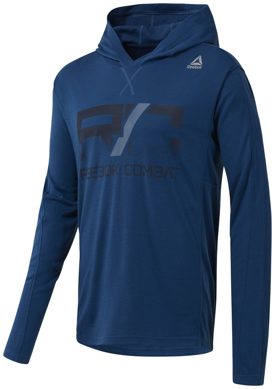 Reebok CY9979, pulover m.fit, modra