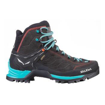Salewa MTN TRAINER MID GTX W, ženski pohodni čevlji, črna