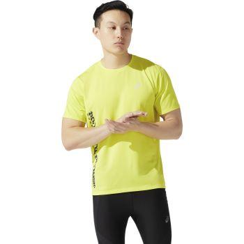 Asics SMSB RUN SS TOP, moška tekaška majica, rumena