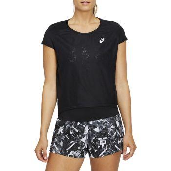 Asics FUTURE TOKYO VENTILATE SS TOP, ženska tekaška majica, črna