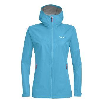 Salewa PUEZ AQUA 3 PTX W LKZ, ženska pohodna jakna, modra