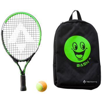 Tecnopro BASH 19 W/ BACKPACK, otroški tenis lopar, črna