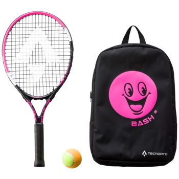 Tecnopro BASH 21 W/ BACKPACK, otroški tenis lopar, črna