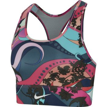 Nike SWOOSH ICNCLSH BRA PRT LL, ženski športni nedrček, večbarvno
