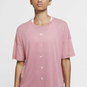 Nike W NK DRY SS TOP OVERSIZE NK GR, maja, roza