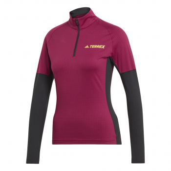 adidas AGR XC LS W, ženska tekaška majica, rdeča