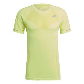 adidas PRIMEKNIT TEE M, moška tekaška majica, rumena