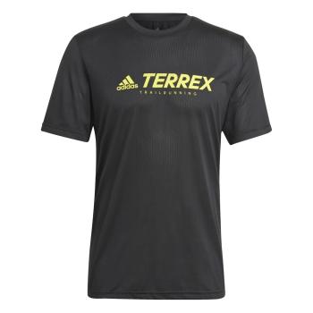 adidas TX TRAIL LOGO T, moška tekaška majica, črna