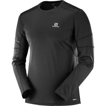 Salomon AGILE LS TEE M, moška tekaška majica, črna