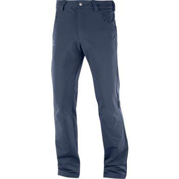 Salomon WAYFARER WARM STRAIGHT PANT M, moške pohodne hlače, modra