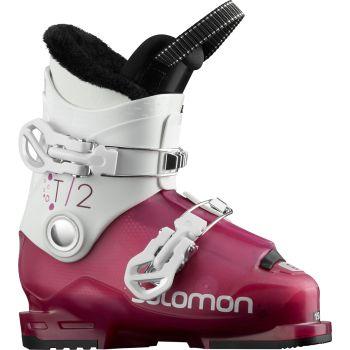 Salomon T2 RT GIRL, otroški smučarski čevlji, roza